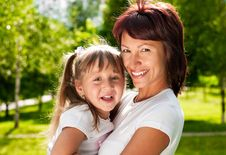 Free Happy Mother With Her Daughter Stock Photos - 14437213