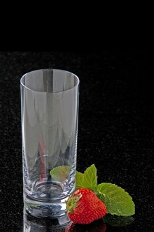 Free Glass With Strawberries Royalty Free Stock Image - 14437216