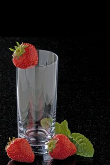 Free Glass With Strawberries Royalty Free Stock Image - 14437226