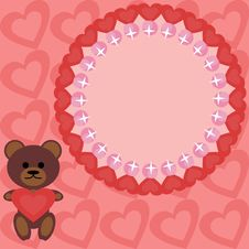 Free Frame With Teddy Bear Royalty Free Stock Image - 14437236