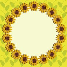 Free Frame With Sunflowers Stock Photos - 14437263