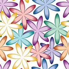 Free Seamless Flower Pattern Stock Image - 14437611