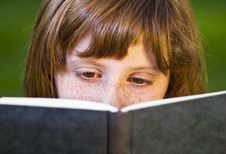 Free Young Beautiful Girl Reading A Book Royalty Free Stock Image - 14438516