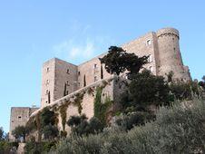 Italian Castle Of Rocca D Evandro Royalty Free Stock Photos