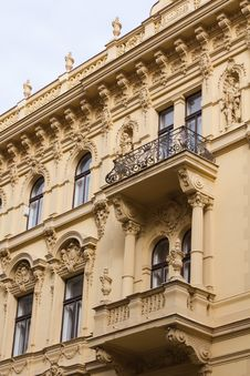 Free Fragment Of Prague Building Stock Image - 14438691
