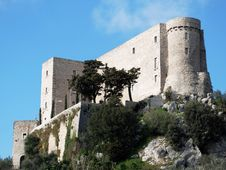Italian Castle Of Rocca D Evandro Royalty Free Stock Images