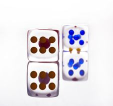 Cristal Dice With Shadow Royalty Free Stock Image