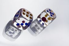 Free Cristal Dice With Shadow Stock Photo - 14439100