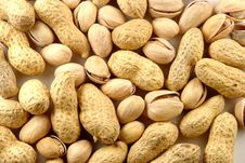 Free Peanut And Pistachio Background Royalty Free Stock Photography - 14439387