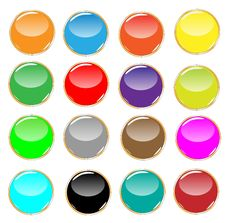 Free Glossy Buttons Collection Stock Image - 14439671