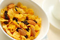Free Healthy Cereal With Raisins And Almond Nuts Royalty Free Stock Image - 14444456
