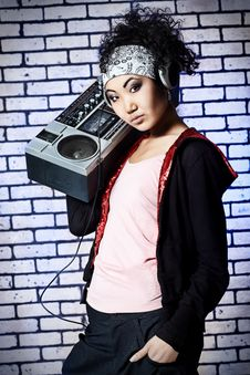 Free Hip-hop Girl Royalty Free Stock Photography - 14440027
