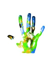 Free Earth Handprints Royalty Free Stock Photo - 14440075