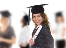 Free Young Women With Diploma Royalty Free Stock Photos - 14440208