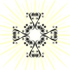 Free Cross Made With Floral Ornament Stock Images - 14440494