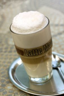 Free Coffee Latte Macchiato In A Glass Stock Photo - 14440510