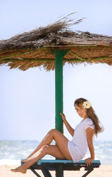 Free Beautiful Woman Relaxing On Beach Stock Photo - 14440550