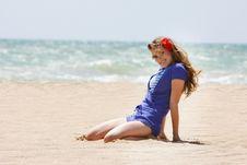 Free Beautiful Woman On Beach Royalty Free Stock Image - 14440606