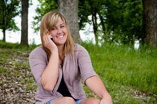 Free Teenage Girl On Cell Phone Stock Images - 14441254