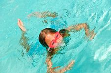 Free Young Girl Playing In A Pool Royalty Free Stock Photography - 14441537