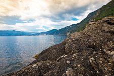 Italian Riviera Coastal View Stock Photo