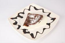 Free Chocolate Pancake With Homogenized Cheese Stock Photo - 14442500