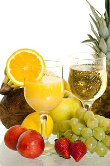 Free Various Fruit Cocktails Royalty Free Stock Image - 14442546