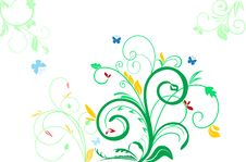 Free Floral Decorative Background Royalty Free Stock Image - 14443046
