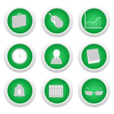 Free Green Sticker With Icon Royalty Free Stock Photo - 14443055