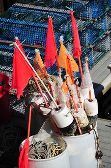 Free Barrel Full Of Lobster Fishing Equipment Royalty Free Stock Photos - 14443198