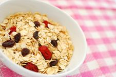Nutritious Oatmeal For Breakfast Royalty Free Stock Photography