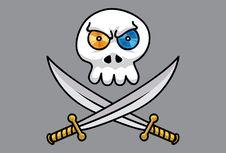 Free Disc Skull Pt.1 Royalty Free Stock Image - 14443936