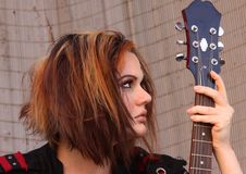 Free Punky Girl With Guitar Royalty Free Stock Photography - 14444257