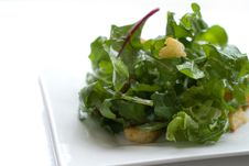 Free Crouton Salad With Copy Space Stock Photos - 14444393