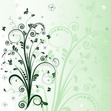 Free Green Floral Frame Stock Images - 14444584