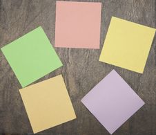 Free Colourful Notes On The Dark Background Stock Photos - 14444653