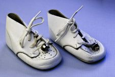 Free Vintage Baby Shoes Royalty Free Stock Images - 14444729