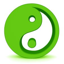 Free Yin Yang Elements Royalty Free Stock Image - 14445586