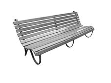 Free Outdoor Park Bench Slated Royalty Free Stock Image - 14445716