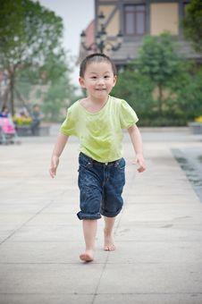 Free Running Chinese Boy Stock Photo - 14446260