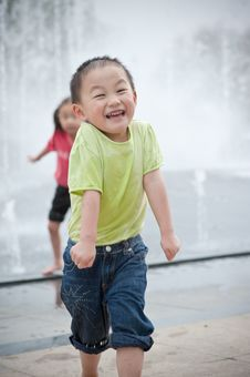 Free Happy Laughing Asian Boy Royalty Free Stock Photo - 14446345