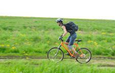 Free Cyclist In Action Stock Image - 14447321