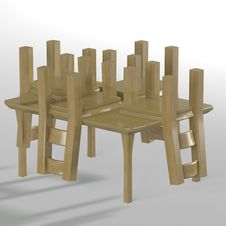 Free Table With Chairs Stock Photography - 14448392