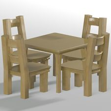 Free Table With Chairs Stock Image - 14448401