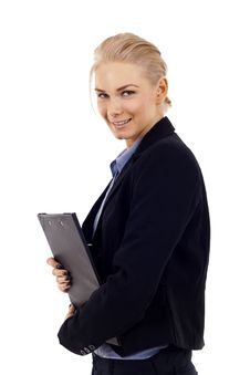 Free Woman With Clipboard Stock Photo - 14448520