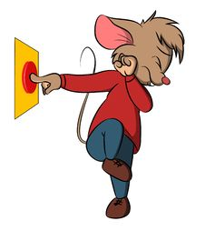 Free Danger Button Mouse Royalty Free Stock Photos - 14448578
