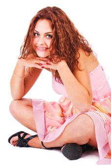 Young Attractive Smiling Young Girl Royalty Free Stock Photography