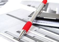 The Handle And Notebook Royalty Free Stock Photography