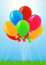 Free Colored Balloons In The Sky Stock Image - 14453201