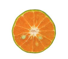 Free Orange On The White Background Royalty Free Stock Photography - 14450307